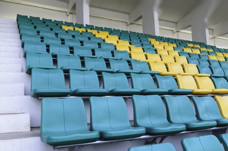 Seating for watching sports on the grandstand roof Stock Photo