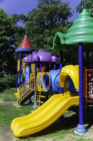 the beautiful children playground in the park