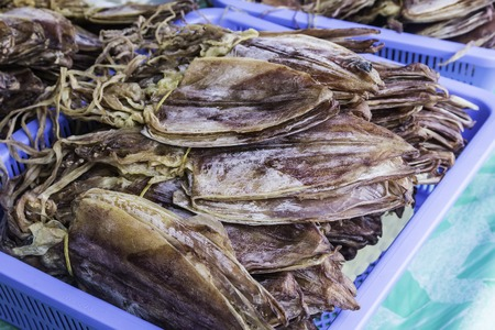 calmar: Dried squid are the food of the fishermen