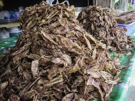 Dried squid are the food of the fishermen