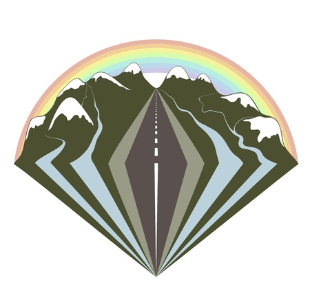 travel logo: Travelling through mountains by car impressions. I love nature through the window of my car.