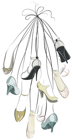 A bunch of legs in shoes