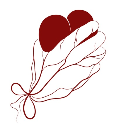 healing hands: Heart present in a hand. Vector EPS8. Heart and veins are on different layers, easy to change colors.