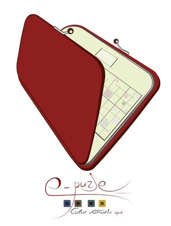 Electronic purse.  Illustration