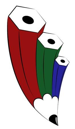RGB pencil. Layered EPS8 vector illustration.