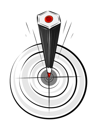 Target pencil. Layered EPS8 vector illustration. Stock Vector - 11307840