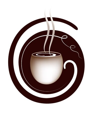 Artistic coffee sign. EPS 8 well orginized. Meshes used. Vector