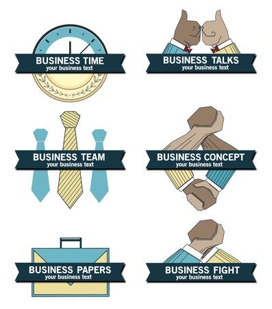 Business concept icons, symbols set.  Vector