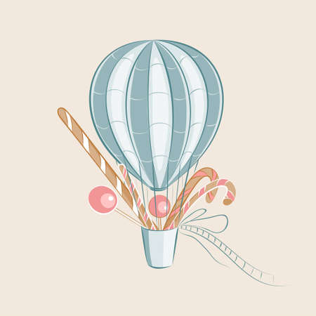 Sweets Balloon illustration