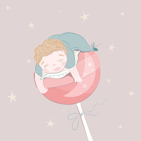 Sweet Dreams baby. illustration. Vector