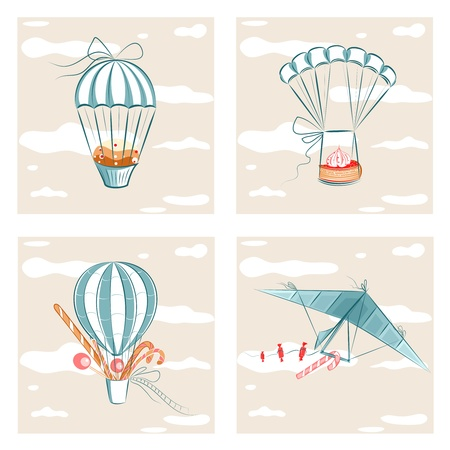 Sweets Flight  Vector