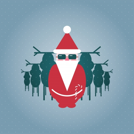 Santa and his Reindeer Gang Illustration Stock Vector - 15903747