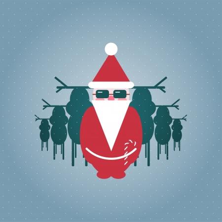Santa and his Reindeer Gang Illustration Stock Vector - 15903747