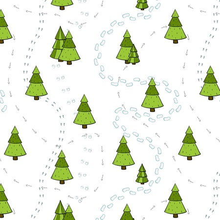 Christmas holidays trees.  No effects used. Vector