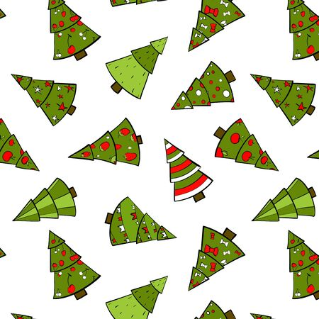 Christmas Trees Seamless Pattern Stock Vector - 16571541