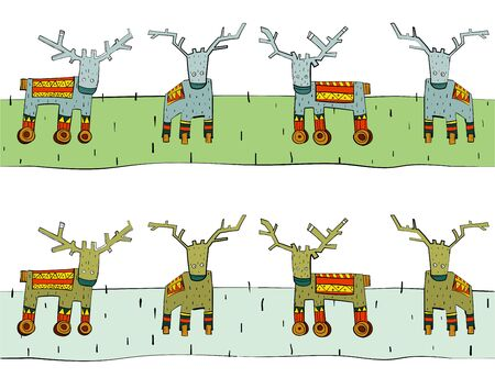 Tileable Reindeer Border Stock Vector - 16702341
