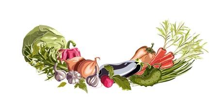 Vegetables Decorative Composition