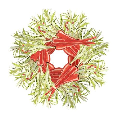 Carrots Decorative Circle Stock Vector - 16980838