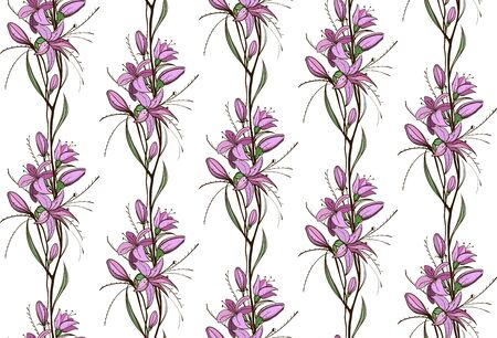 Lily Flowers Seamless Pattern Stock Vector - 17899103