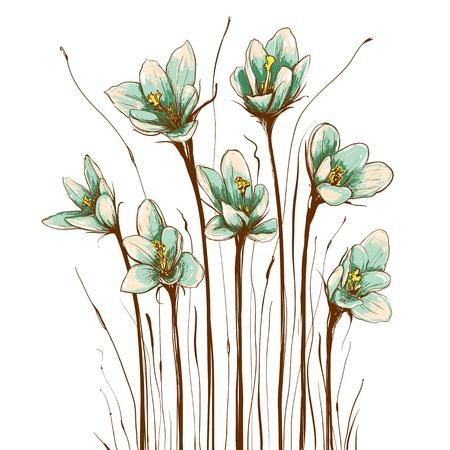 vintage floral: Vintage Flowers Composition