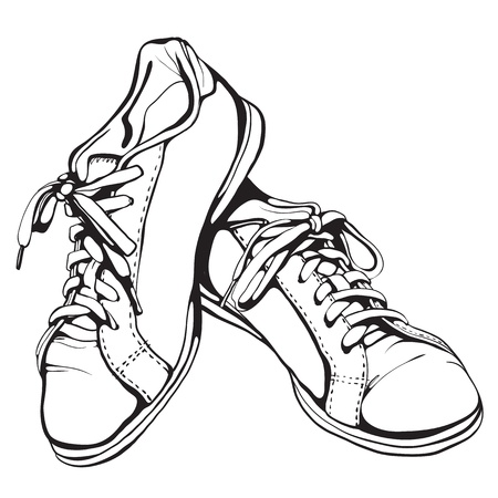 withered: Shabby Running Shoes in Black Ink