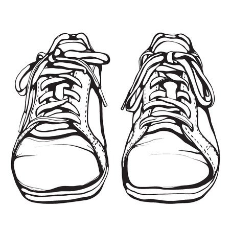 foot gear: Shabby Running Shoes in Black Ink
