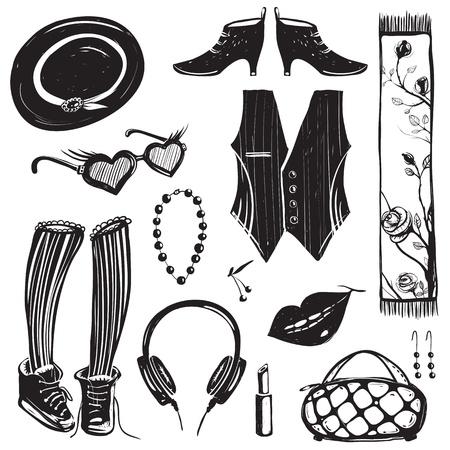 inky: Inky Fashion Doodles Set
