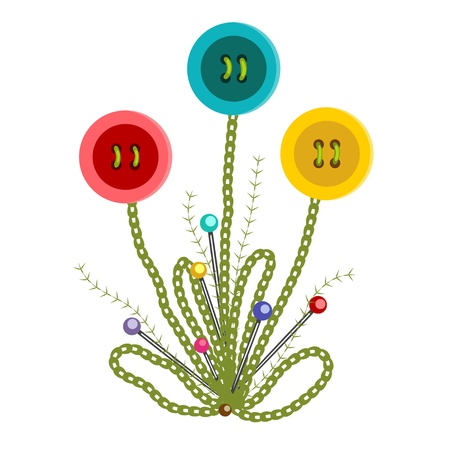 embroidered: Colorful Embroidered Buttons