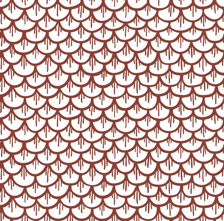 escamas de peces: Las escalas de pescados sin fisuras patrón de dibujos animados ilustración vectorial Brown
