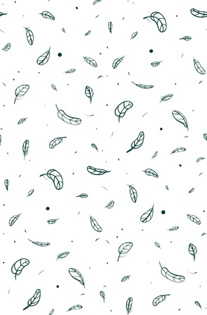 Feathers Seamless Pattern  Tileable feather background  Vector EPS8  Vector