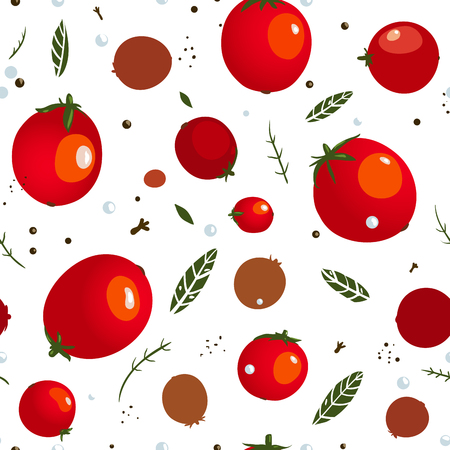 rad: Rad Canned Spicy Tomato Seamless Pattern  Vector EPS8 canned tomatoes pattern