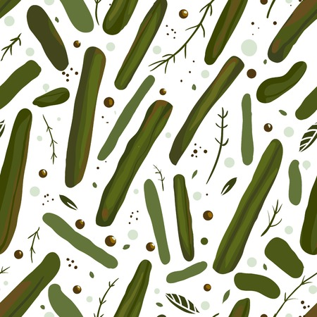 tinned: Green Canned Spicy Beans Seamless Pattern   Vector EPS8 green beans pattern