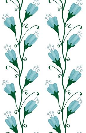 bluebell: Bluebell Flowers Seamless Pattern Blue floral pattern  Vector illustration EPS8