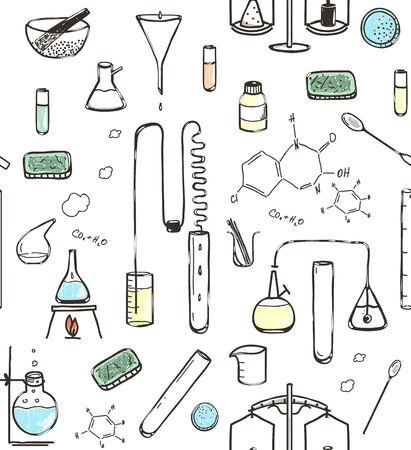 balanza de laboratorio: Patrón Laboratorio Químico Seamless. Patrón Laboratorio Químico Seamless