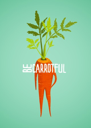 Carrot Diet Colorful Inspirational Vegetable Concept.
