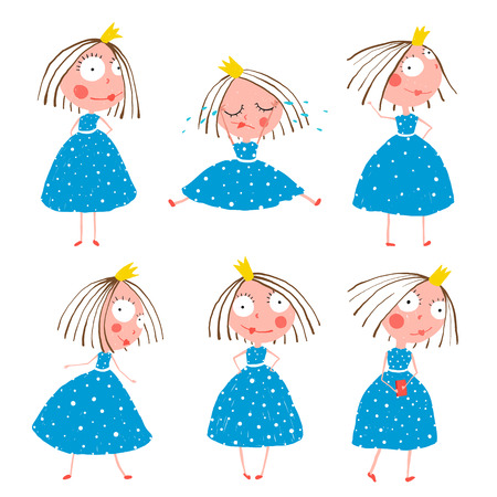 Cute Little Princess Girls in Poses Collection for Kids