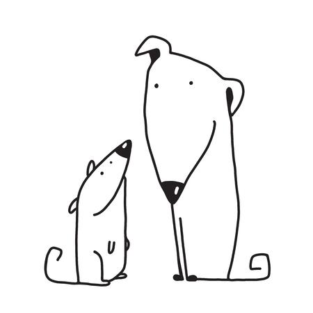 puppy cartoon: Animal pet friend, drawing puppy, breed dog