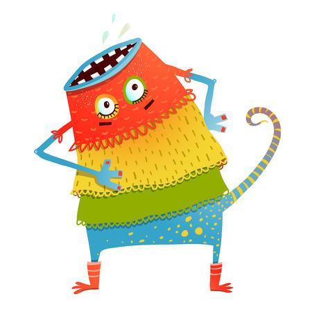 Freaky creature monster in dress