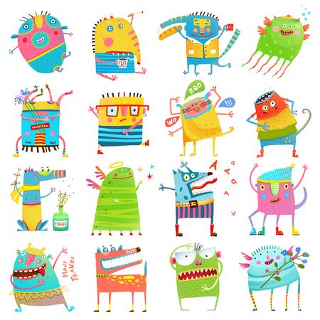 Cartoon mostri colorati per bambini Grande Collection Archivio Fotografico - 83874572