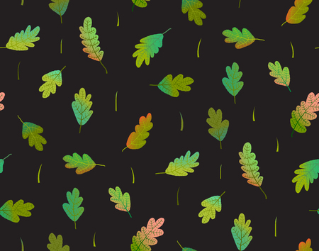 Colorful hand drawn foliage seamless wallpaper Stock Photo
