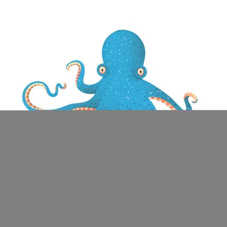 Devilfish graphic textured illustration isolated. Vector cartoon. Çizim