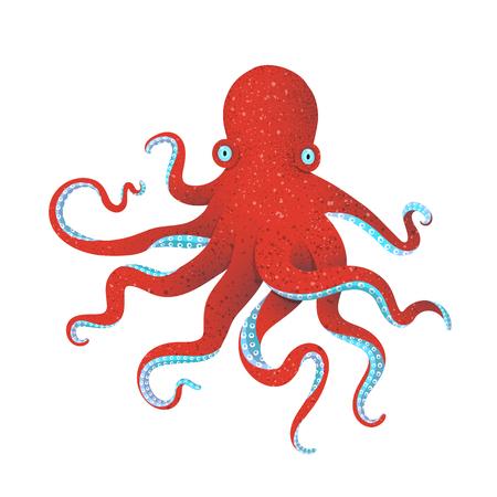 Devilfish tentacles isolated graphic illustration. Vector cartoon. 일러스트
