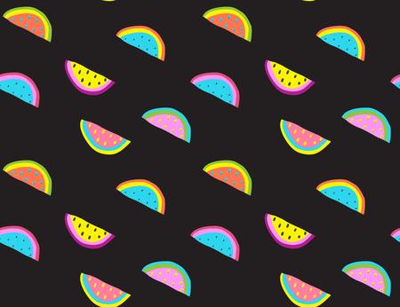 Trendy abstract watermelon fruit print for texture, interior decoration. Vector illustration.