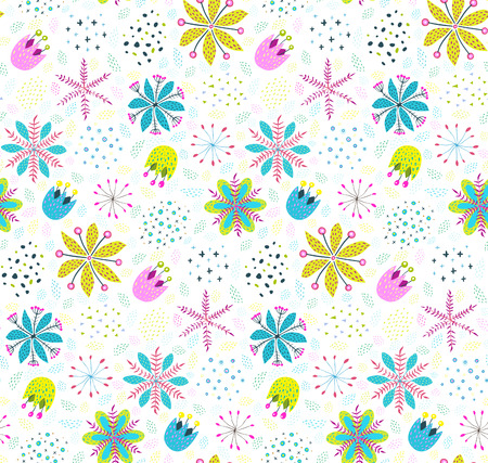 Rich seamless background floral and textured. Vector illustration.