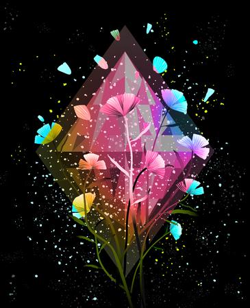 Colorful cosmic gradients background for designer. Vector design. Illustration
