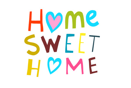 Scripting hand lettering design home sweet home. Home Sweet Home Illustrated Sign.