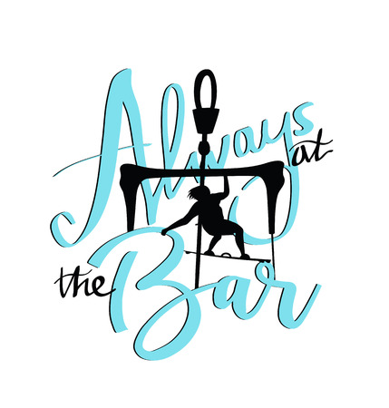 Always at the bar. Kite surfing poster or t-shirt design.
