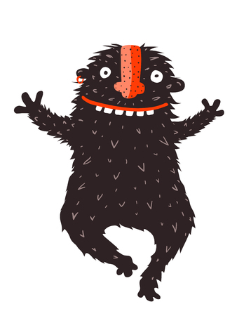 Cartoon design of quirky monster vector graphics.