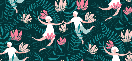 Background design on dark, loving couple in the garden.