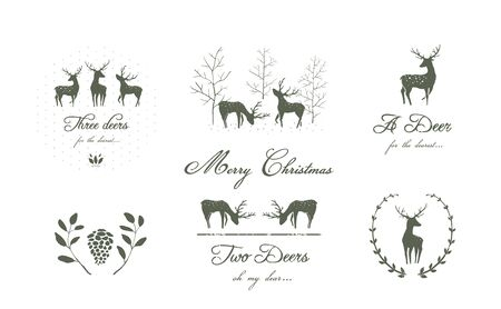 Christmas or New year vector holiday graphics for prints on t shirts, postcards, web design. Vetores